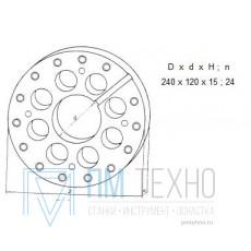 Диск Делительный d 240х120х 15 число делен. 24 под паз 12мм (ДСП-48) (восстановленный)