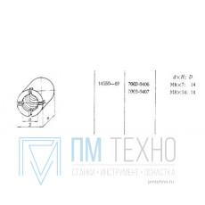 Гайка Круглая М8х14 D14мм (7003-0407) ГОСТ 14550-69