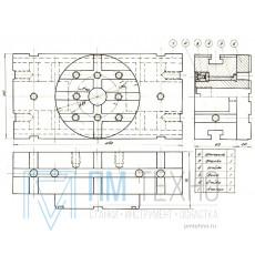 Головка Поворотная 240х120х 80 с планшайбой d 120х20мм под паз 12мм (УЗСП-42) (восстановленная)