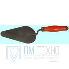 Кельма плиточника КП 170х100 мм с деревянной ручкой