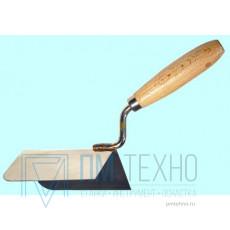 Кельма угловая наружная 120х60х60 мм с деревянной ручкой