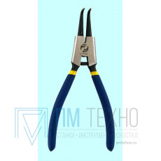 Клещи для снятия наружных стопорных колец 180мм изогнутые