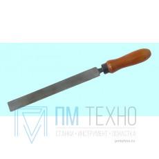Напильник Плоский 200мм №2 сталь У13А (тупоносый) ГОСТ1465-80 с дер. ручкой, коррозия