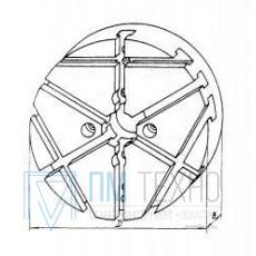 Плита Круглая d 340х 40 с радиально-поперечным расположением Т-образных пазов 12мм (ДСП-7) (восстановленная)