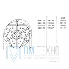 Плита Круглая d 360х 40 с радиально-поперечным расположением Т-обр. пазов 12мм (7081-2461) ГОСТ15202-70(восстановленная)
