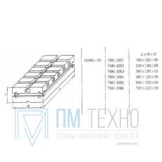 Плита Прямоугольная 180х120х60 с Т-образными пазами 12мм (7081-2051) ГОСТ 15186-70  (восстановленная)
