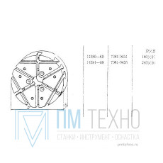 Плита Круглая d 240х 30 с радиально-поперечным расположением Т-обр.пазов 8мм (7081-0436)ГОСТ14381-69(восстановленная)