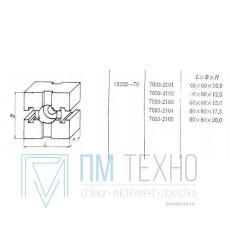 Прокладка квадратная 60х60х10 с 2-мя Т-образными пазами 12мм (7033-2101) ГОСТ15222-70 (восстановленная)