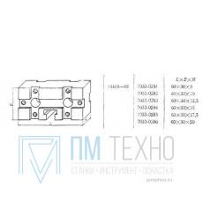 Подкладка прямоугольная 60х30х15 с Т-образным пазом 8мм (7033-0284) ГОСТ14408-69