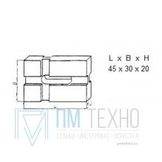 Подкладка прямоугольная 45х30х20 переходная под паз 8мм (ДСПМ-2-09)