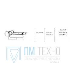 Прихват  75х 28х 20 передвижной изогнутый под паз 8мм  (7011-0812) ГОСТ 14524-69