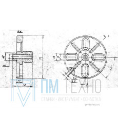 Фланец установочный D  70х 10 d18мм под паз 8мм (ДСПМ3-16)