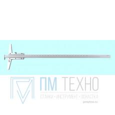 Штангенглубиномер 0- 300мм ШГ-300, цена деления 0.05 с зацепом толщиномером