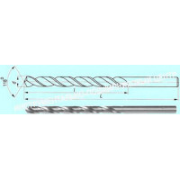 Сверло d 10,0х110х180  ц/х  Р6М5  удлиненное с вышлифованным профилем