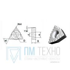 Пластина WCMX - 080408  Р20 трёхгранная ломаная dвн=5мм (для сверления рельс)