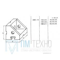 Угольник ребристый   60х 60х 60 с Т-образным пазом 12мм (7080-2162) ГОСТ 15291-70 (ДСП-25) (восстановленный)