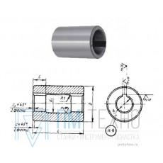 Втулка поддерживающая d16, D42, L 63мм к оправкам для горизонтально-фрезерных станков ГОСТ15072-75