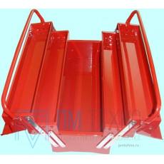 Ящик инструментальный (металлический), 5 секций, 495х200х290мм